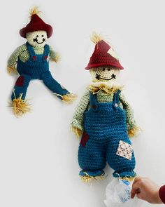 Scarecrow Bag Keeper and TP Topper Crochet Pattern