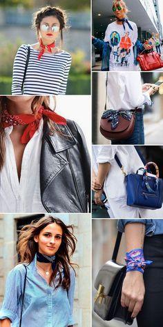 Ways To Wear Bandanas, How To Wear Scarves, Outfits With Bandanas, How To Wear Bandana, Street Style Inspiration, Inspiration Mode, Bandana Outfit, Bandana Scarf, Bandana Styles
