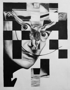 Salvador Dali and his Cross painting as a weave.