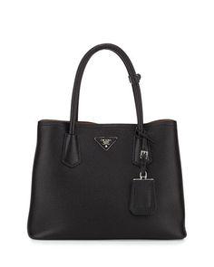 BUCKET LIST - Prada Saffiano Double-Zip Executive Tote Bag, Black (Nero)