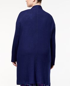 Tommy Hilfiger Plus Size Long Knit Cardigan - Ladies Pajamas - SLP - Macy's