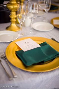 Gene Higa Photography, Wynn Austin Events, Santaluz Club, Concepts Event Design, Organic Elements, hunter green, gold, white, color scheme, wedding