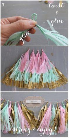 tassel banner diy