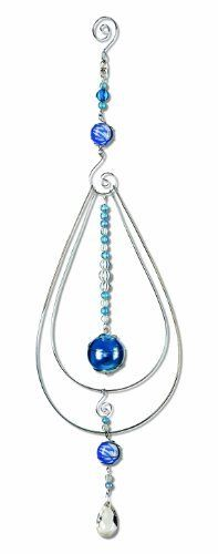 Sunset Vista Stratus Spheres Pavo Marble Sun Catcher, 15-Inch Long by Sunset Vista Designs. $14.26. Great gift choice for a housewarming or to mark a special occasion. Measures 1-1/2-inch wide and 15-inch long. Metal and marble sun catcher. Blue and clear marbles reflect light to add a shine to any room. Sunset vista has everything you need to decorate your home and yard. Metal and marble sun catcher adds color and reflects light, perfect for any decor. Also makes ...