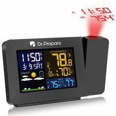 Multi-Colored Projection Alarm Clock Projection Alarm Clock, Travel Alarm Clock, Radio Alarm Clock, Radios, Wall Clock With Date, Best Alarm, Big Ben Clock, Digital Projection, Adjustable Floor Lamp