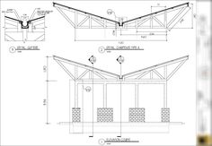 Drawing: Inverted Truss with Gutter Detail