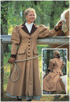 da6de232af8 Buggy Coat- Women's Old West Clothing Cattle Kate Vintage Cowgirl, Cowgirl  Chic, Cowgirl