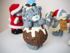 Christmas Me to You Bear Figurine Collection | Katie Kirk Loves #christmaspudding #ornaments