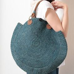 """New Cheap Bags. The location where building and construction meets style, beaded crochet is the act of using beads to decorate crocheted products. """"Crochet"""" is derived fro Crochet Purse Patterns, Bag Crochet, Crochet Shell Stitch, Crochet Handbags, Crochet Purses, Bag Women, Art Bag, Round Bag, Unique Bags"""