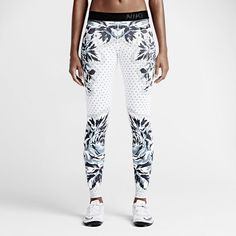 Women Nike Pro Floral Dot Training Tight of the Moment Small 799488-100 Yoga