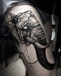 Dope elephant tattoo
