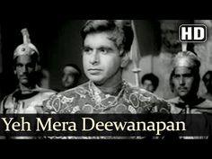 Yeh Mera Deewanapan Hai (HD) - Yahudi Songs - Dilip Kumar - Meena Kumari - Mukesh - Filmigaane - YouTube