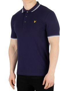 (eBay Sponsored) Lyle & Scott Men's Tipped Slim Stretch Polo Shirt, Blue