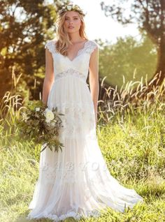 Dressesonline Bohemian Wedding Dresses Lace Bridal Gowns Backless Vestido De Noivas -- Check out the image by visiting the link. (This is an affiliate link) Cheap Bridal Dresses, Cheap Wedding Dresses Online, Wedding Dresses With Straps, Bohemian Wedding Dresses, Tulle Wedding, Ivory Wedding, Mermaid Wedding, Gown Wedding, Bridesmaid Dresses