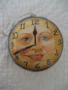 Vintage Man in the Moon | Vintage-man-in-the-moon-clock-face-paper-mache-Christmas-ornament-time ...
