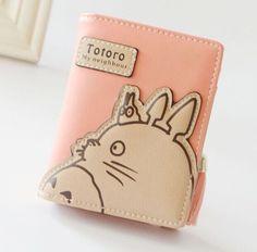 2016 cute sweet short long totoro cat women girl femme marque wallet porte monnaie zip hasp clutch two fold purse bolsa muje