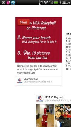 Usav pin it to win it!