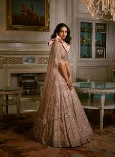 Vogue India, Lakme Fashion Week, Indian Couture, Couture Week, Indian Attire, Half Saree, Pink Fabric, Bridal Lehenga, Couture Collection