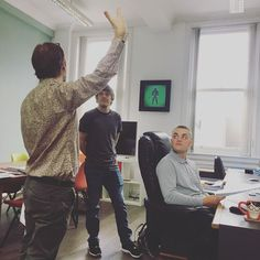 Creative Director Simon discussing a new project with our Marketing Assistants Danny and Joe...I'm not too sure what Simon is trying to demonstrate here 😂 #relativemarketing #bolton #marketing #marketingtips #creativedesign #webdesign #photography #marketingtools #digitalmarketing #blog #bloggers #contentwriting #brand #ads #advertising #infographic #graphicdesign #onlinemarketing #wordpress #socialmediamarketing #seo #emaildesign #emailmarketing #websitedesign #viralmarketing #growth…