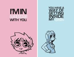 Scott Pilgrim postcards.