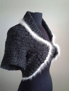 Vintage 50's Bolero Sweater Black by Joannesvintagecloset on Etsy