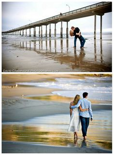 The Engagement Shoot :: On The Beach | Engaged & Inspired