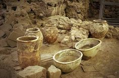 The Cretan influence was obvious in Akrotiri since it has been transformed into a Minoan civilization until the time that it was covered by ashes after the volcanic eruption around 1500 BC.