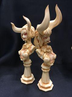 WonFes17 Resin Art, Clay Art, Character Art, Character Design, Enchanted Doll, 3d Figures, Smart Art, Fantasy Miniatures, 3d Prints
