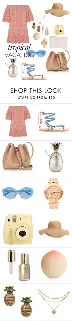 """Bahama Mama"" by mangomai ❤ liked on Polyvore featuring Madewell, Ancient Greek Sandals, Lancaster, Jodhpuri, Karen Walker, Versace, Fuji, Old Navy, Stila and Tony Moly"