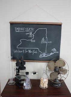state map chalkboard