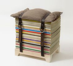 Make the most out of old magazines you thought would not be of any good use with the help of this Magazine Stool by Njustudio.