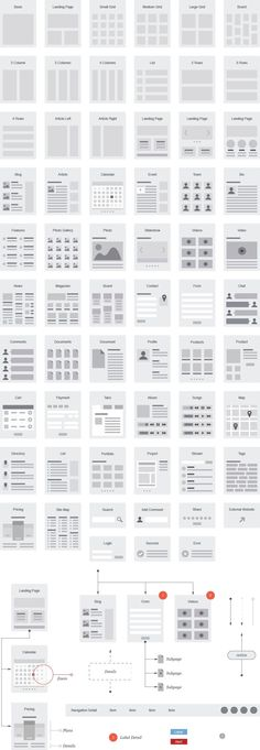 Another nice collection of wireframe ideas to be starting a page with. - Another nice collection of wireframe ideas to be starting a page with. Pretty much always like to h - Sitemap Design, Layout Design, Design De Configuration, Intranet Design, Visual Design, Interaktives Design, Web Layout, Tool Design, Graphic Design