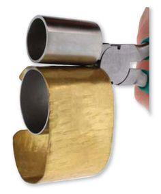 Double cylindre Bracelet pince 1 à cintrer & 1 3/8 pouce