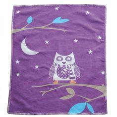 Babydecke Eule Lilli 70x90 cm - David Fussenegger #blanket #spread #quilt #cotton #baby #owl