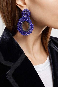 Bibi Marini - Primrose Bead And Silk Earrings - Violet