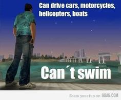 Grand Theft Auto, Swimming, Boat, Fun, Swim, Dinghy, Boats, Hilarious, Ship