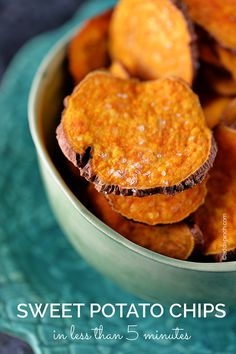 Sweet Potato Chips // only takes 5 minutes in microwave, perfection for a snack attack! via Add a Pinch #healthy #clean #appetizer