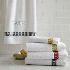 Jacquard Facet Towels #westelm