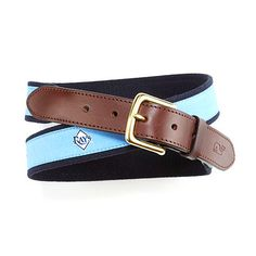 Tampa Bay Rays Canvas Club Belt By Vineyard Vines.