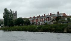Victorian terrace River Severn