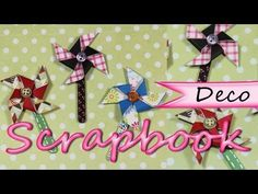 Scrapbook Deco *How to Paper Windmill* Como Hacer un Molino de Papel Scrap Reciclado Pintura Facil - YouTube