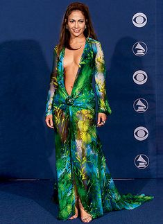 J.Lo's Versace Dress at the Grammys
