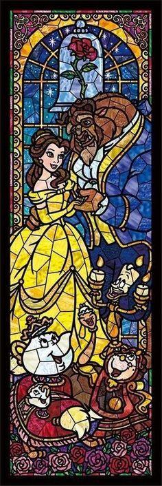 Hoje é dia deixar o celular mais que encantado com as Princesas da Disney. #StainedGlassDisney