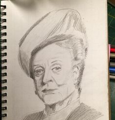 Day 9/30 Maggie Smith Sketches Of People, Maggie Smith, Portrait, Day, Men Portrait, Human Sketch, Portrait Illustration, Portraits