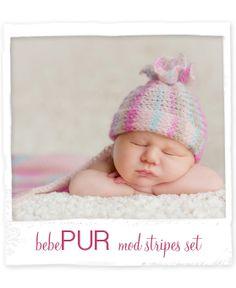 Bebe Pur Mod Stripe Set for Her beautiful newborn photography