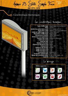 décoration extérieur - Enseigne lumineuse à led    http://www.urbanlife.fr/index.php/afficheur-animeo-statique-pitch-16.html