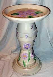 It is Just a Terra Cotta Pot ! .....Ummmmm, No...it is a Birdbath!
