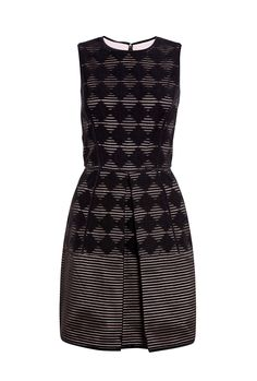 Diamond Jacquard Fit and Flare Dress by Tibi