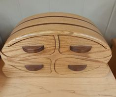 Bandsaw Jewelry Box Keepsake Jewelry Box made from Oak and