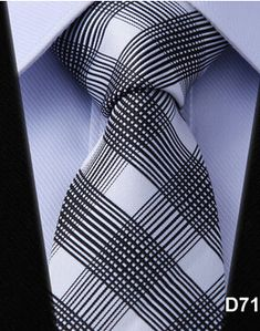 Stripe PLAID NECKTIES Dot Gravata Check Brand 100% Silk Jacquard Woven Classic Man's Tie Necktie